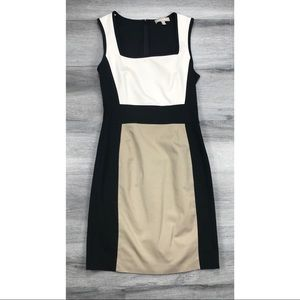 Banana republic dress colorblock sleeveless sheath